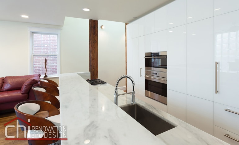 Contemporary Chicago Kitchen Countertop Remodelers
