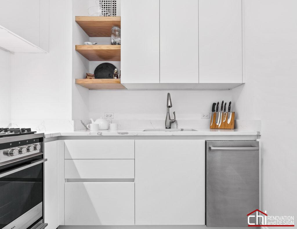 CHI | Elegant Chicago White Kitchen Design