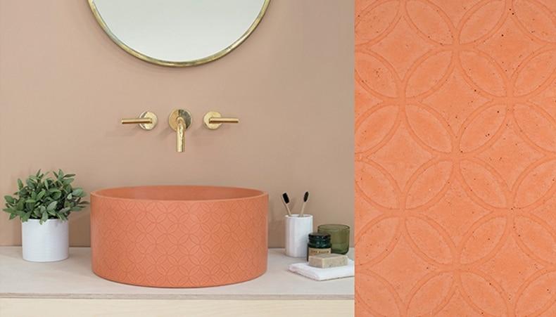 Ember Hued Embellished Sink