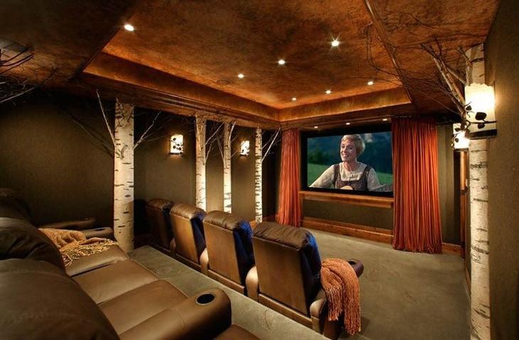 Susan Hersker Home Theatre Interior