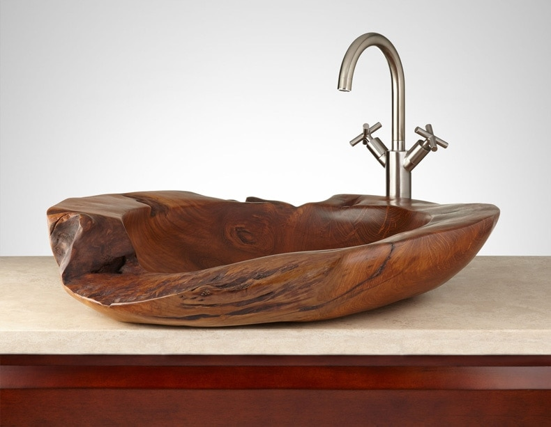 Teak Root Vessel Sink