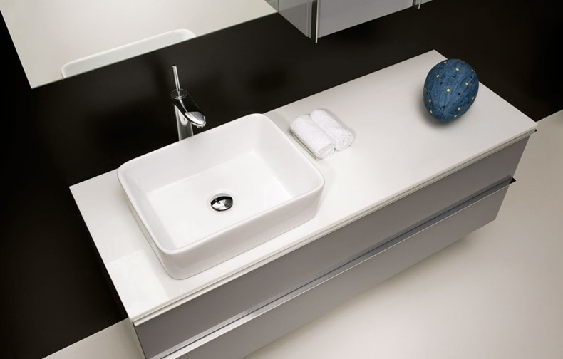 White Custom Bathroom Sink