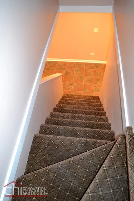 Janets Basement Staircase Remodel