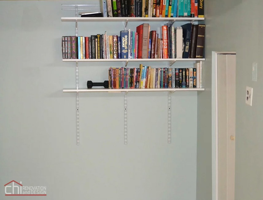 Nitzas Basement Book Shelves Remodeling
