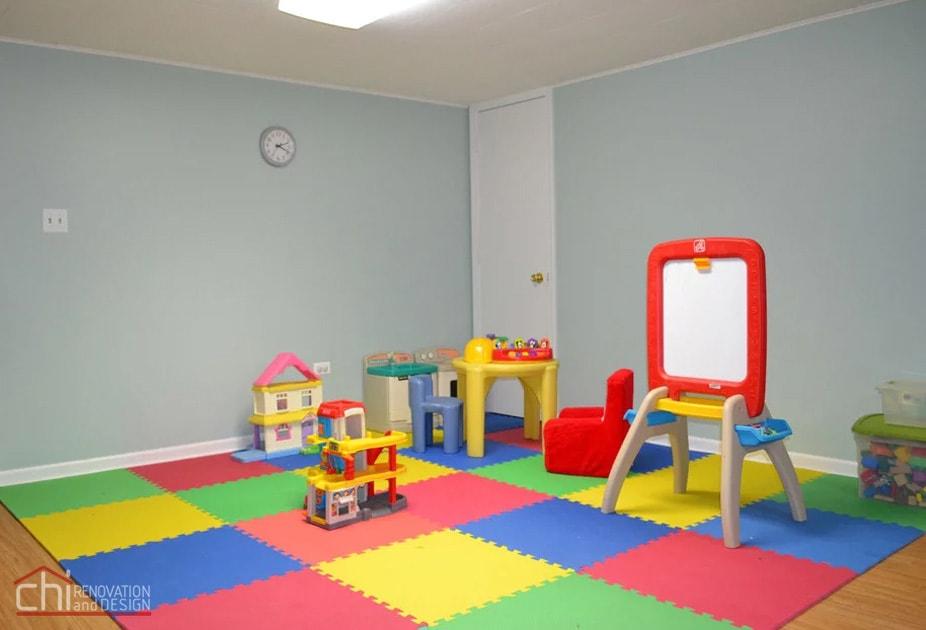 Nitzas Basement Kids Area Remodeling