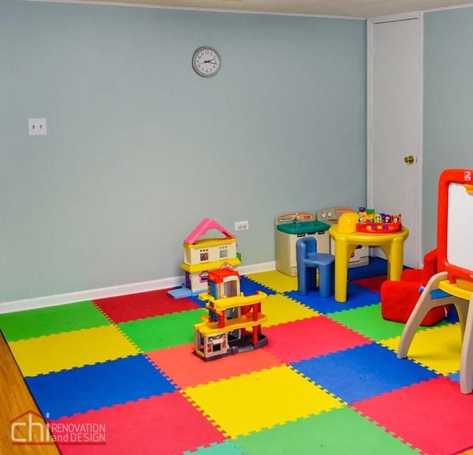 Nitzas Basement Kids Space Remodel