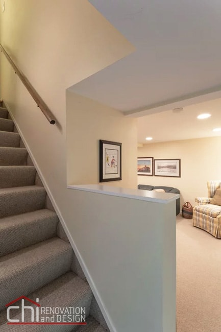 Small Basement Staircase Remodeling