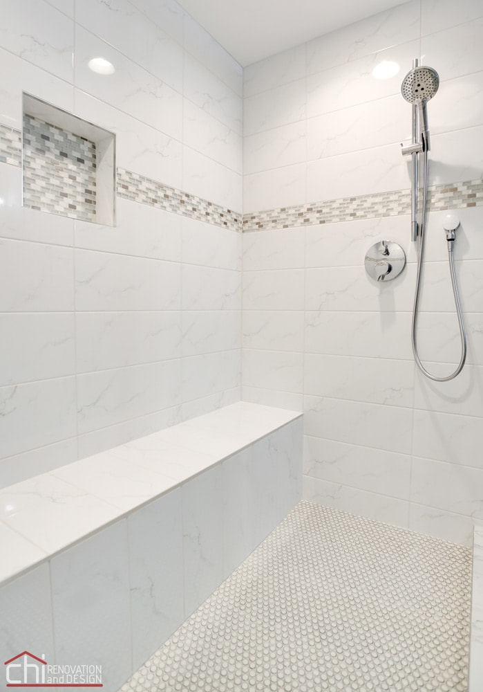 Barrington Basement Bathroom Shower Remodeling