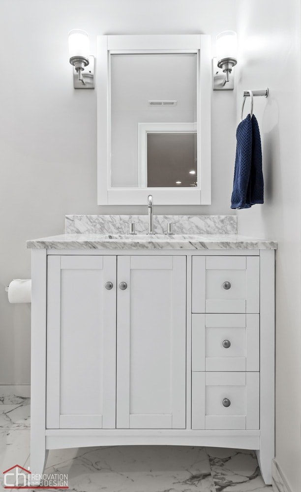 Barrington Basement Bathroom Vanity Remodel