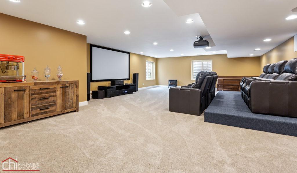 Barrington Basement Home Theater Remodel