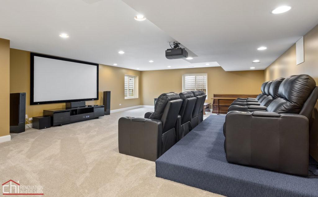 Barrington Basement Luxe Home Theater Renovation