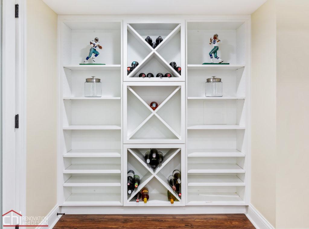 Barrington Basement Shelves Design