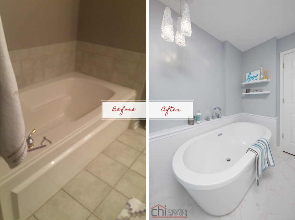 Joans Bathroom Before After Lincoln Park Remodel
