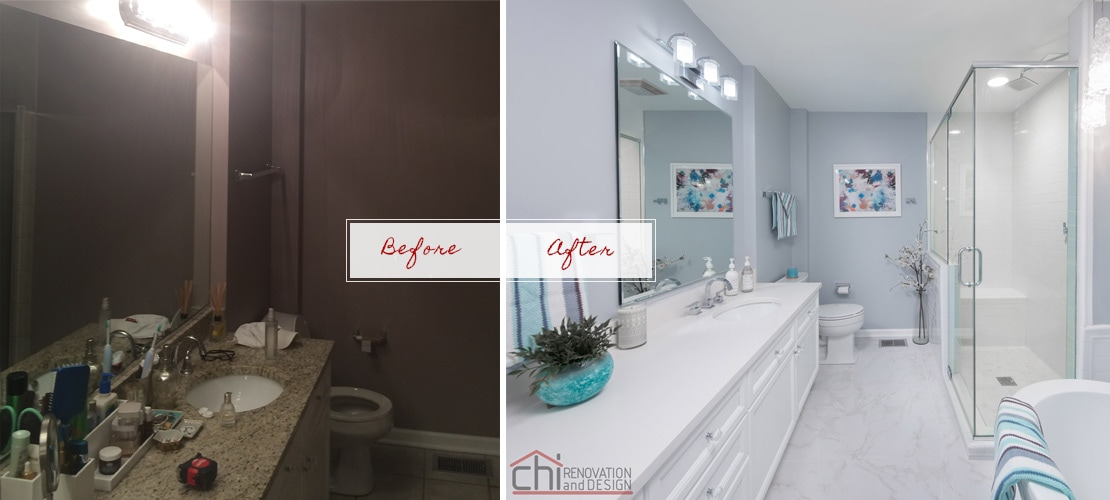 Joans Before After Bathroom Remodel