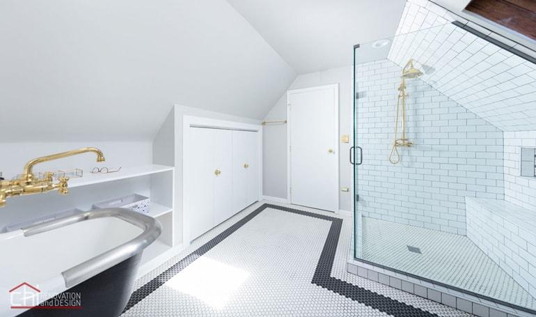 Roscoe Village Attic Space Bathroom Renovation