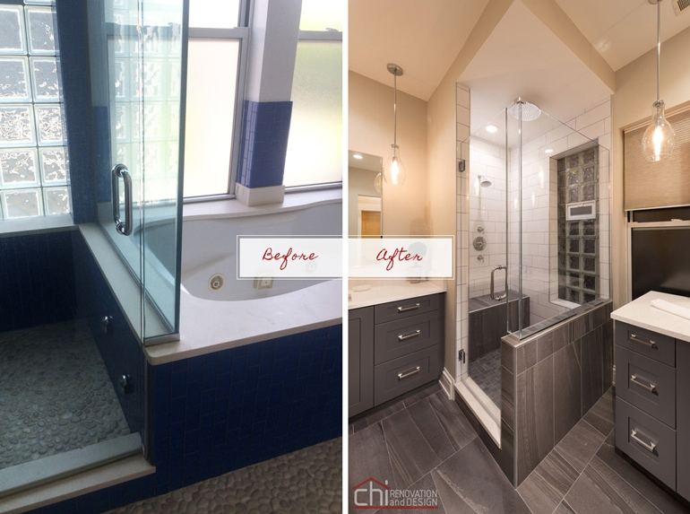 Chicago West Town Bathroom Before After Design