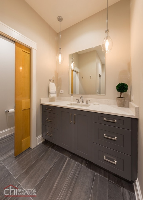 Chicago West Town Bathroom Vanity Cabinets
