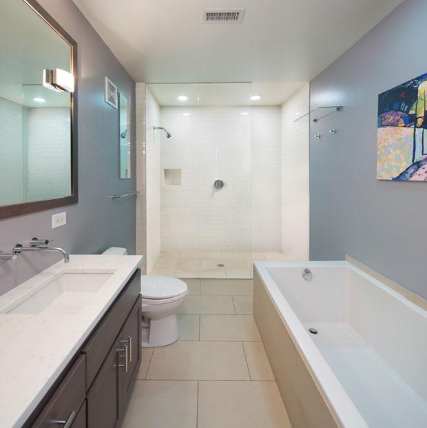 Remodel Downtown Condo Bathroom