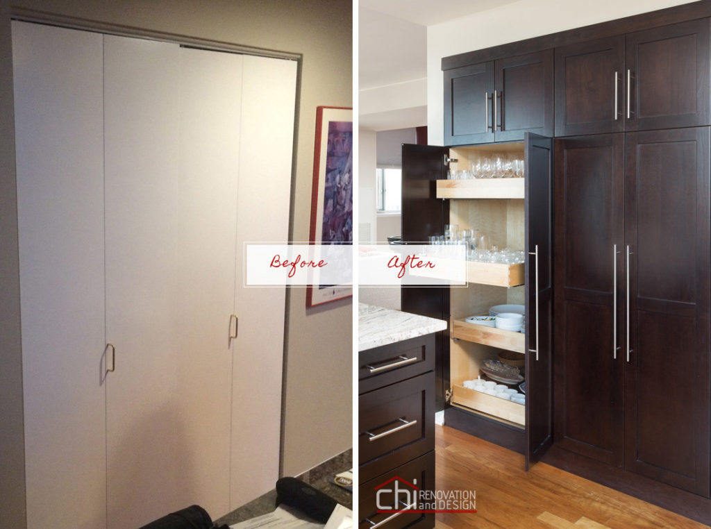 Chicago South Loop Before After Kitchen Remodel