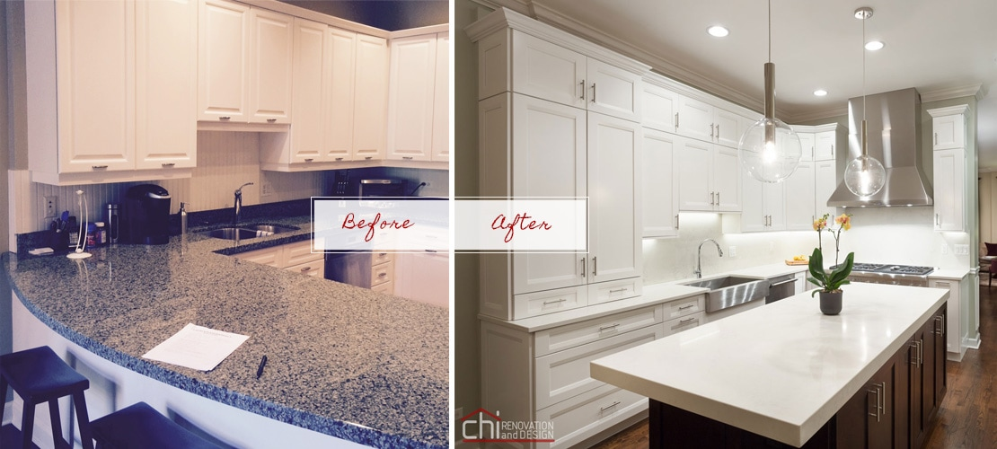 River North Before After Kitchen And Dining Remodel
