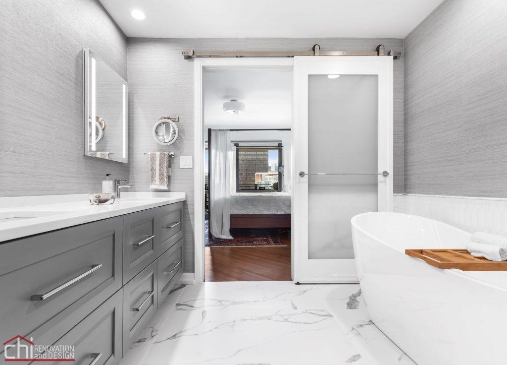 Chi | Chicago Condo Remodel Master Bath Full View