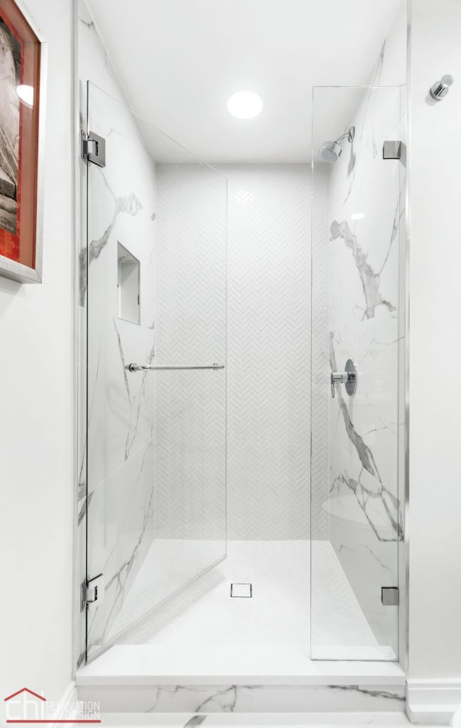 Chi | Chicago Condo Remodel Bath Shower Front