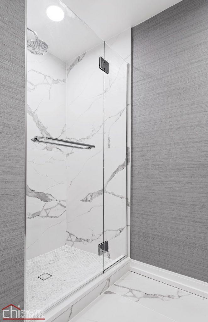 Chi | Chicago Condo Remodel Master Bath Shower Side