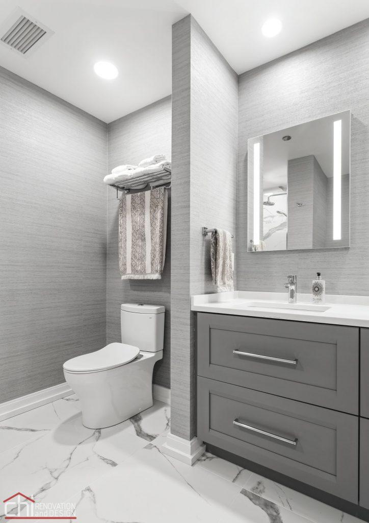 Chi | Chicago Condo Remodel Master Bath Toilet