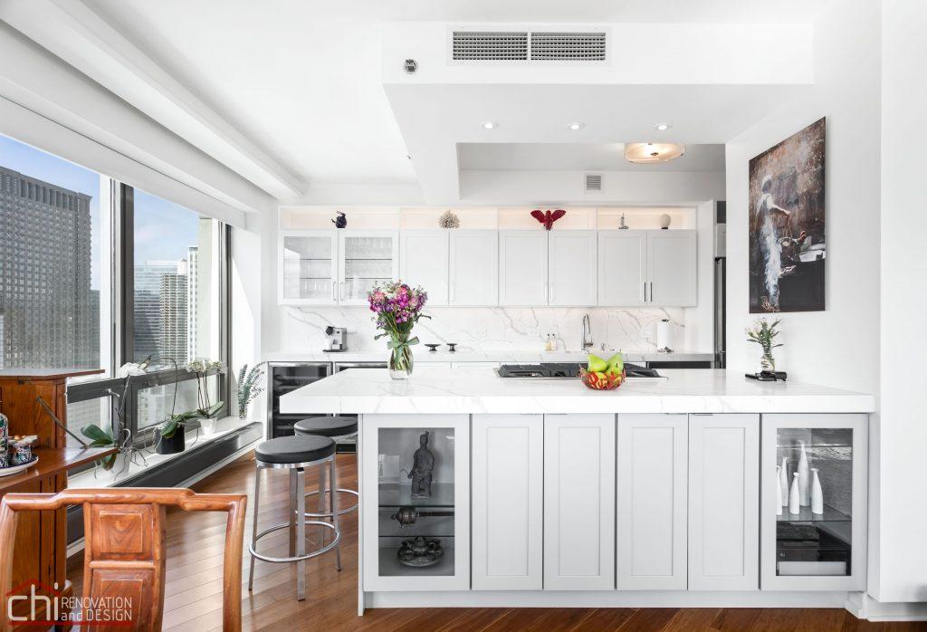 Chi | Chicago Condo Remodel Sleek Kitchen