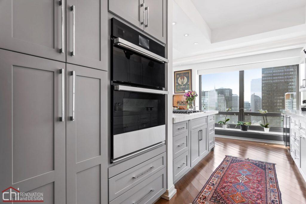 Chi | Chicago Condo Remodel Sleek Kitchen Closets