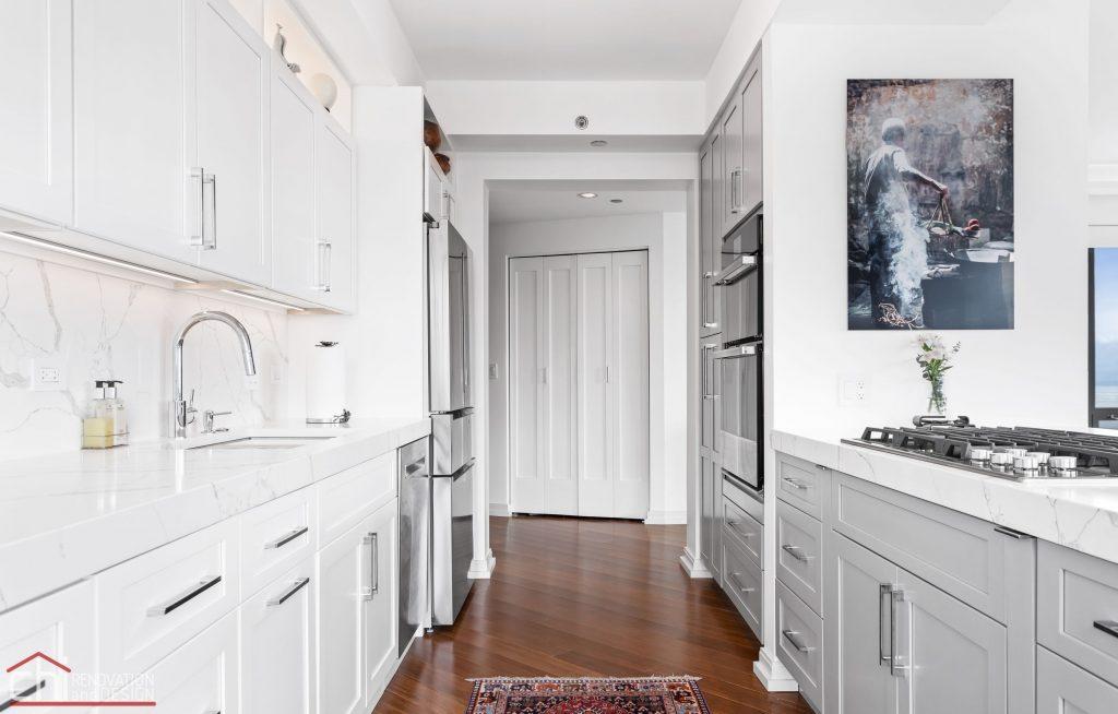Chi | Chicago Condo Remodel Sleek Kitchen Crossing Path
