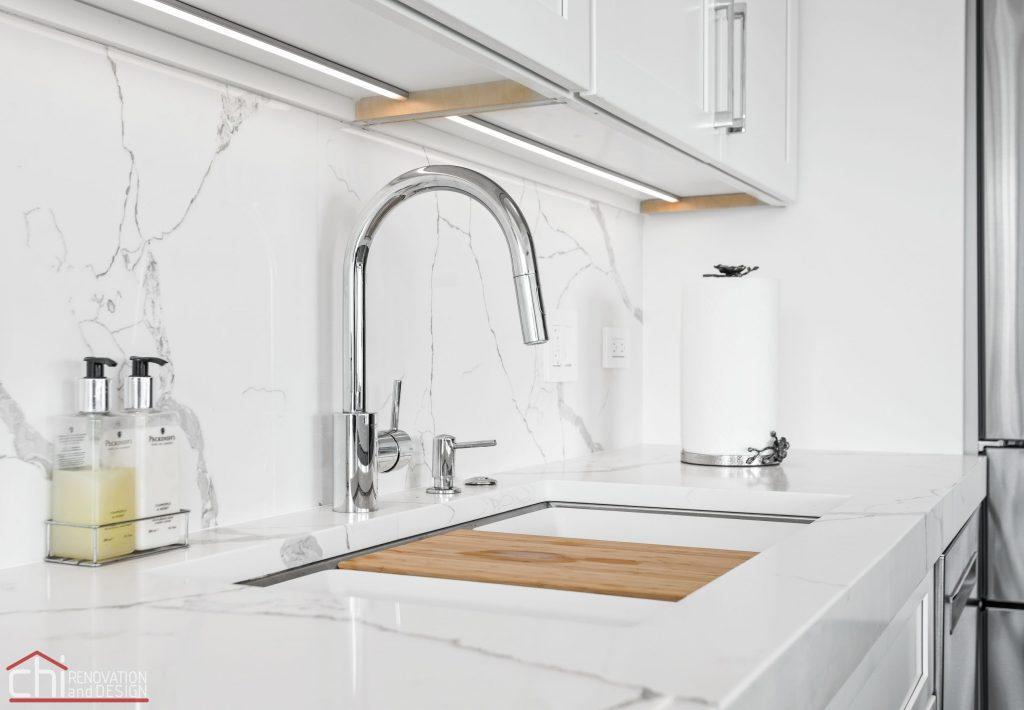 Chi | Chicago Condo Remodel Sleek Kitchen Sink