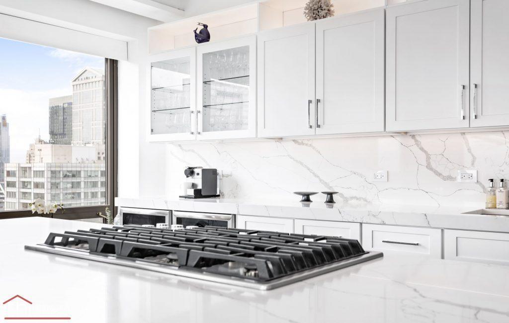Chi | Chicago Condo Remodel Sleek Kitchen Stove Top