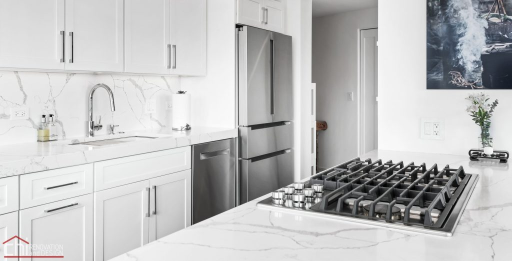 Chi | Chicago Condo Remodel Sleek Kitchen Stove Top Look