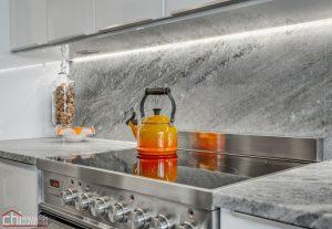 Chicago Modern Condo Living Kitchen Countertop Remodel